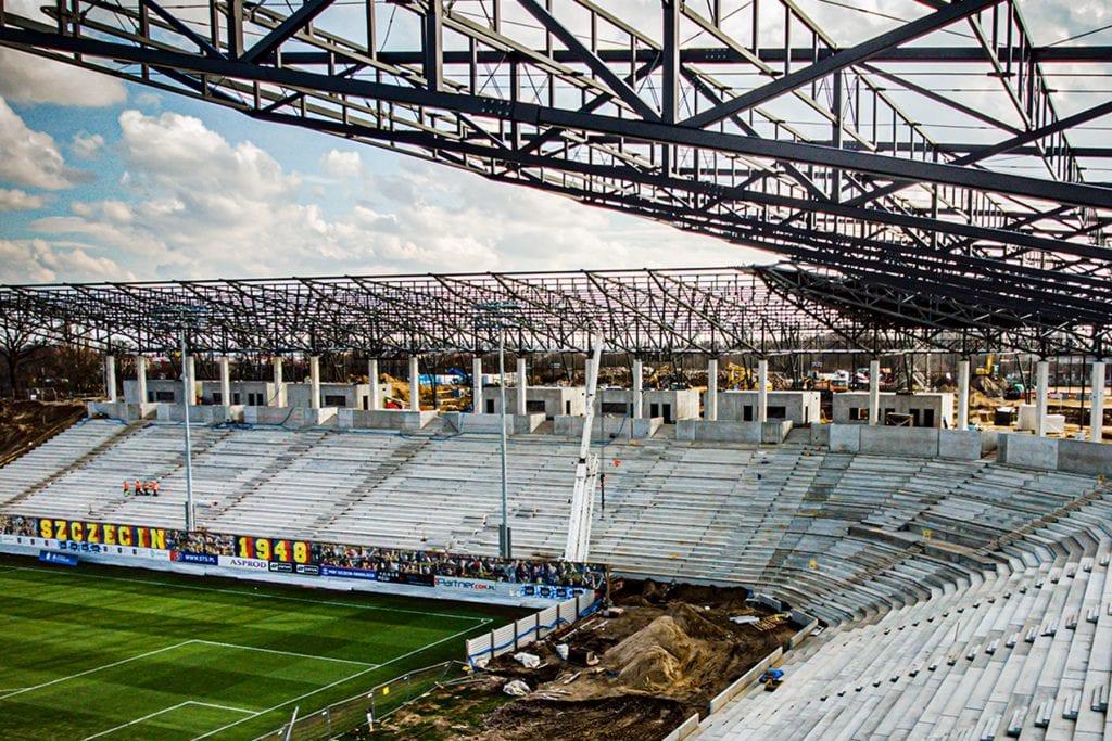 Szczeciński stadion w dziesiątce największych w kraju