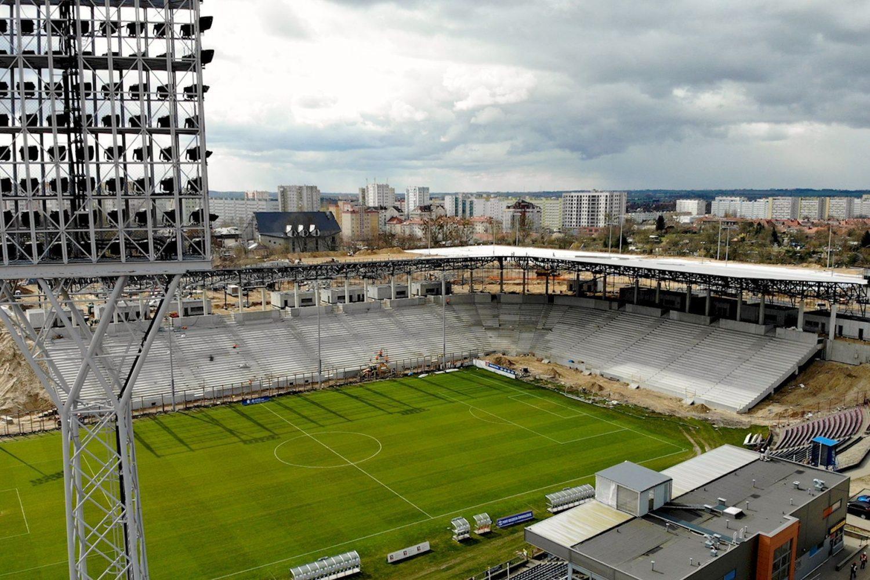 Postępy w budowie stadionu