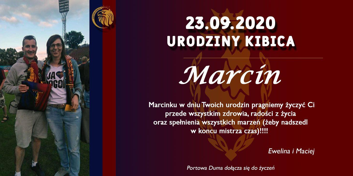 Urodzinowe życzenia dla kibica Marcina