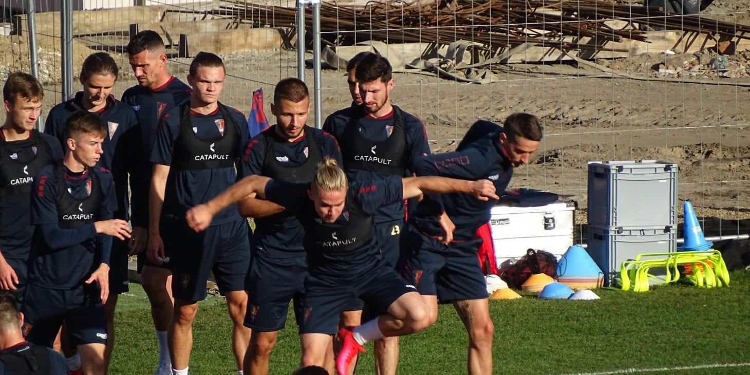 Przedmeczowy trening Portowców